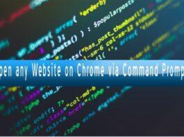 Open Website on Chrome via CMD