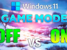 Windows 11 Game Mode On vs Off